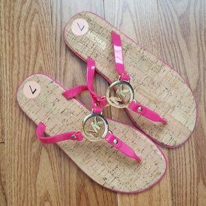 MK Pink Charm Jelly Flip Flops NWOT